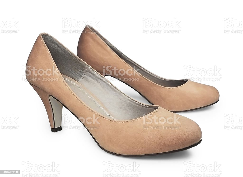 Nude Pumps royalty-free stock photo