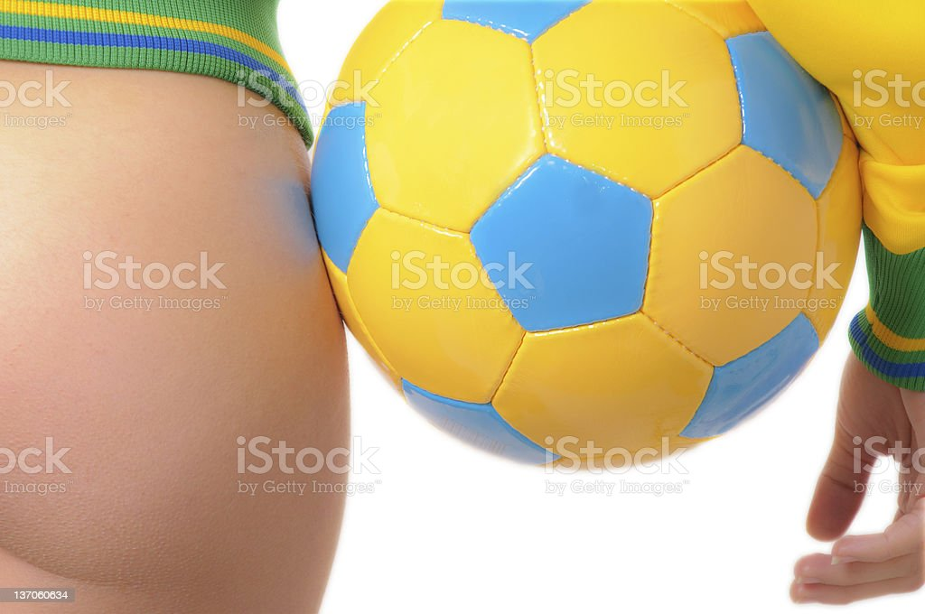 Nude Soccer royalty-free stock photo