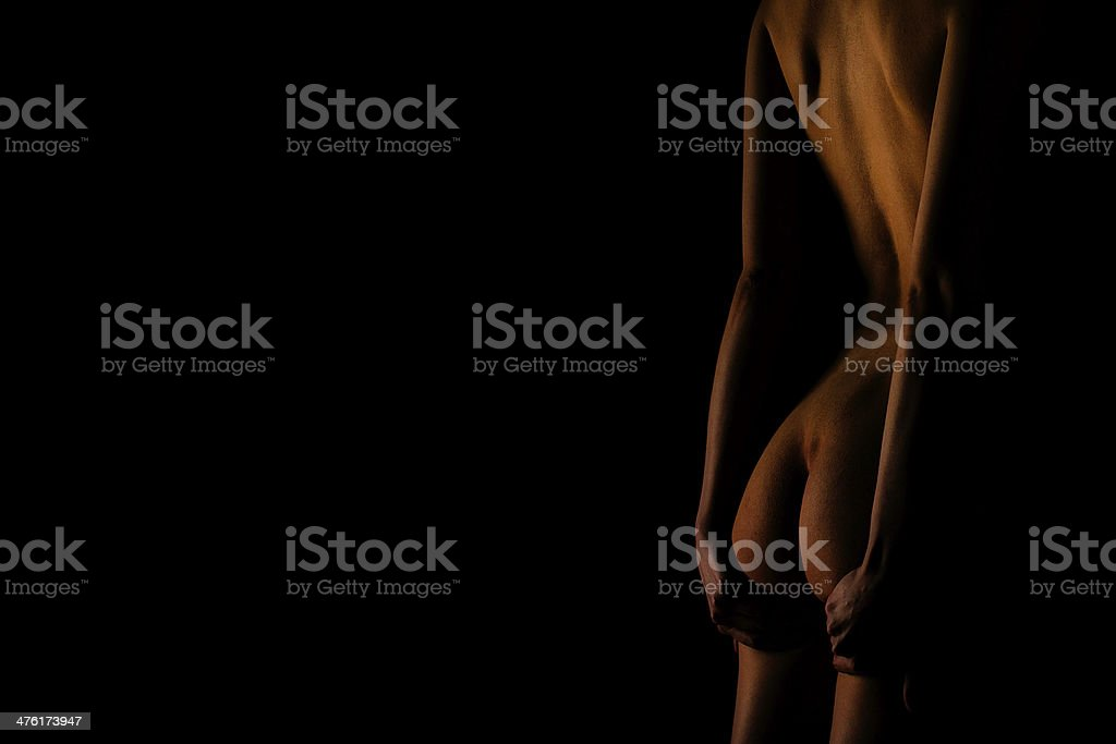 Nude woman. royalty-free stock photo