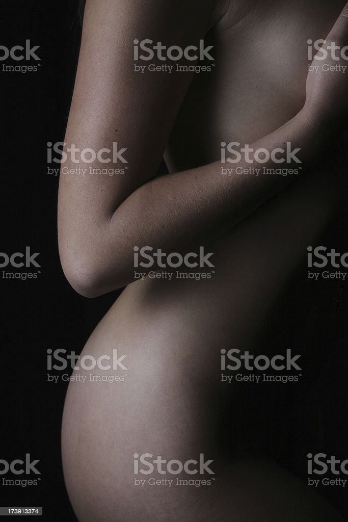 Nude Woman Torso royalty-free stock photo