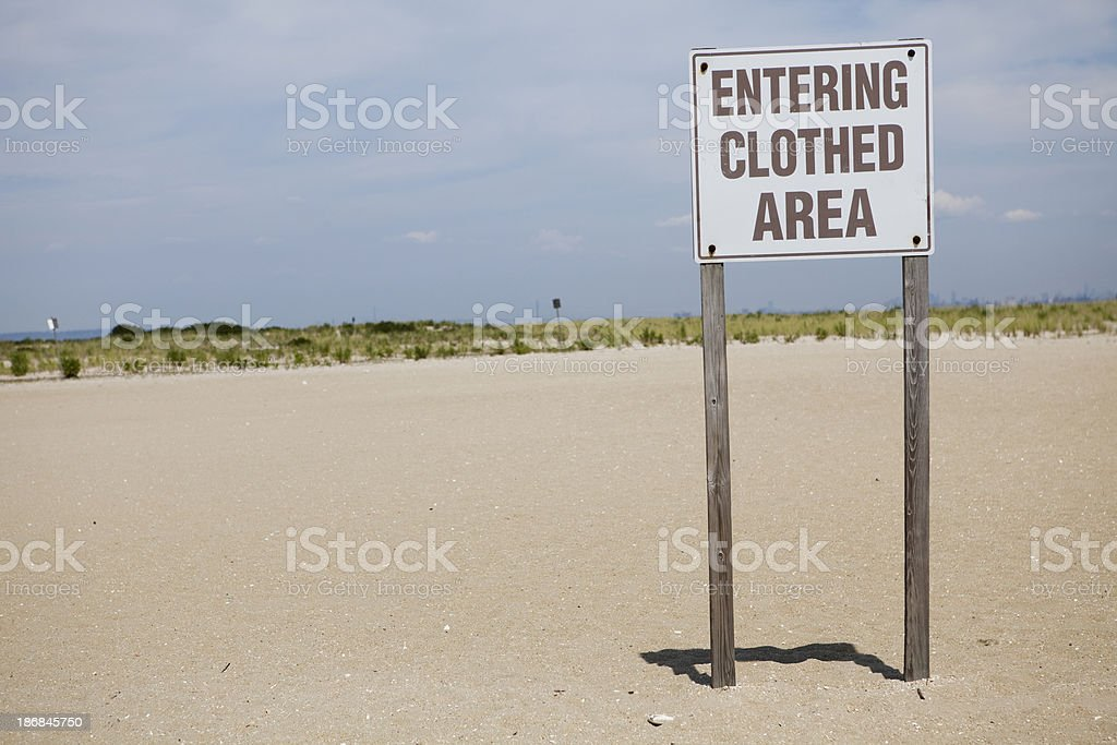 Nudist beach stock photo