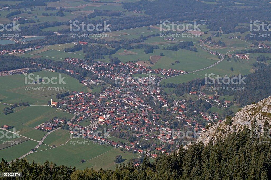Nußdorf at Inn stock photo