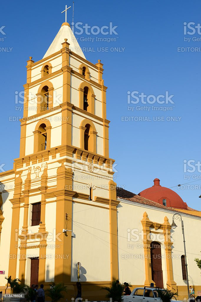 Nuestra Senora de la Soledad church in Camaguey, Cuba stock photo
