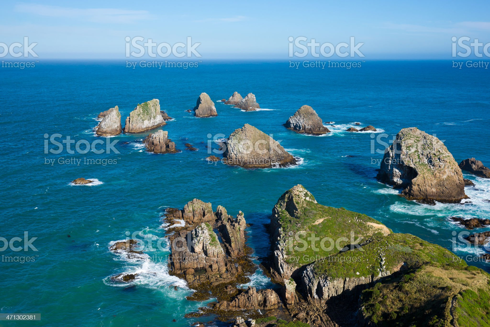Nugget Point, Catlins, South Island, New Zealand royalty-free stock photo