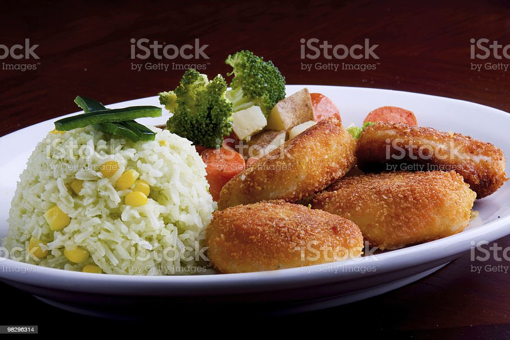 Nuggets Plate stock photo