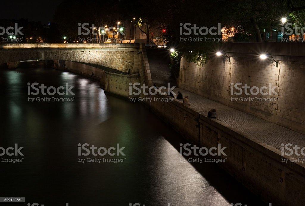 Nuit Sur Le Quai royalty-free stock photo