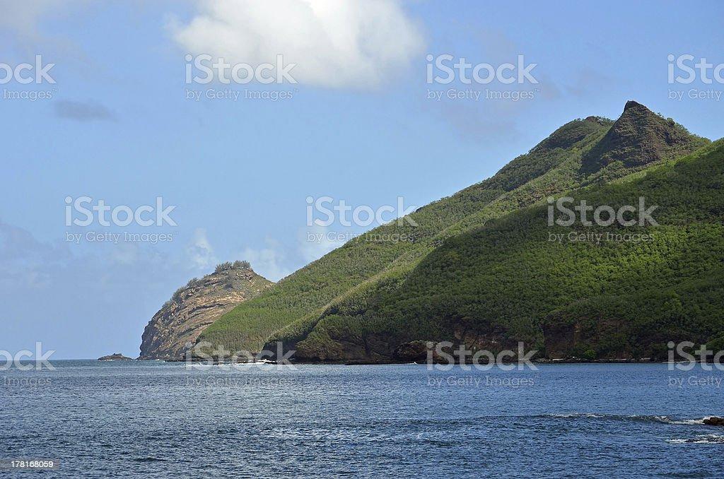 Nuku Hiva of the Marquises Archipelago stock photo