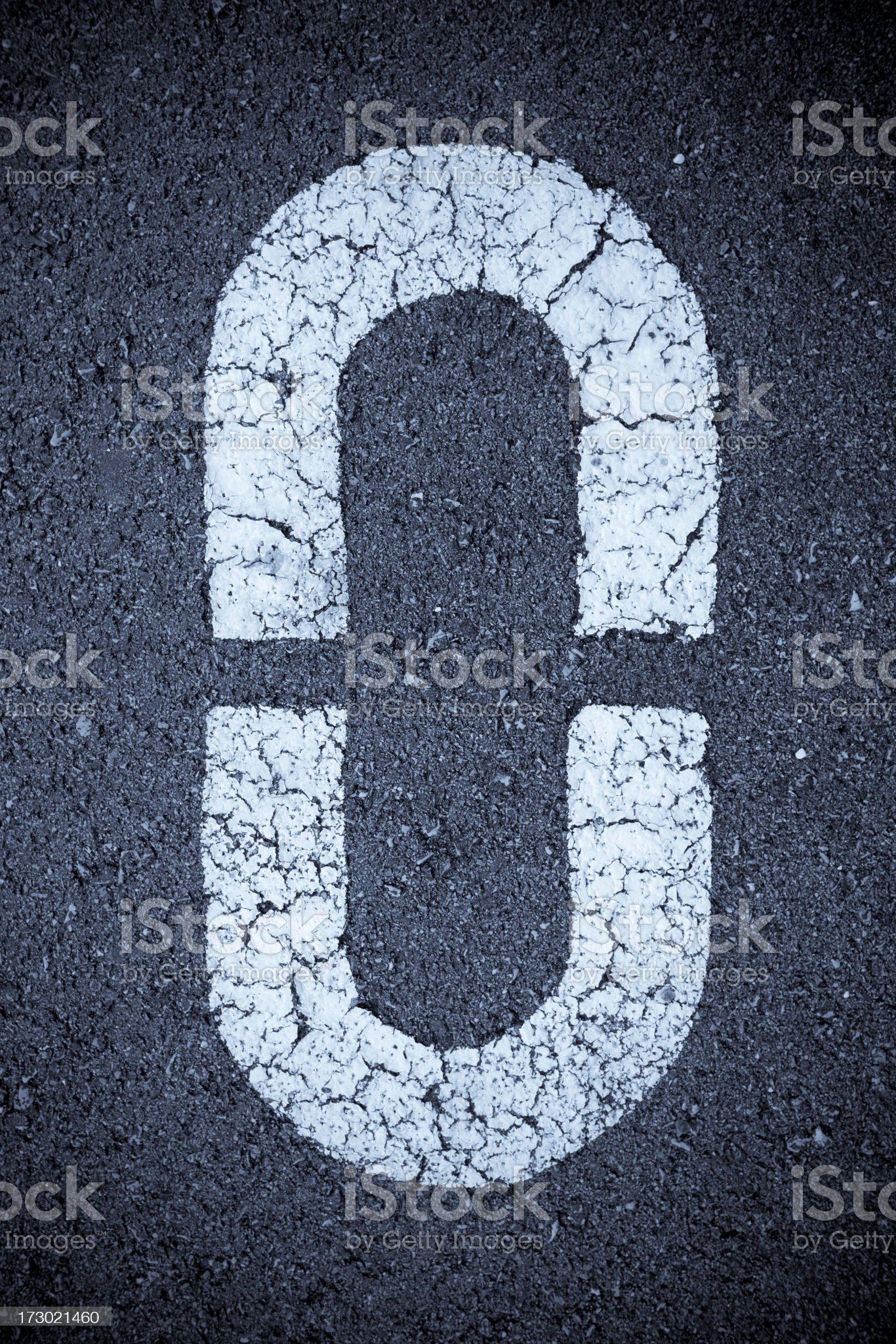 Number 0 royalty-free stock photo