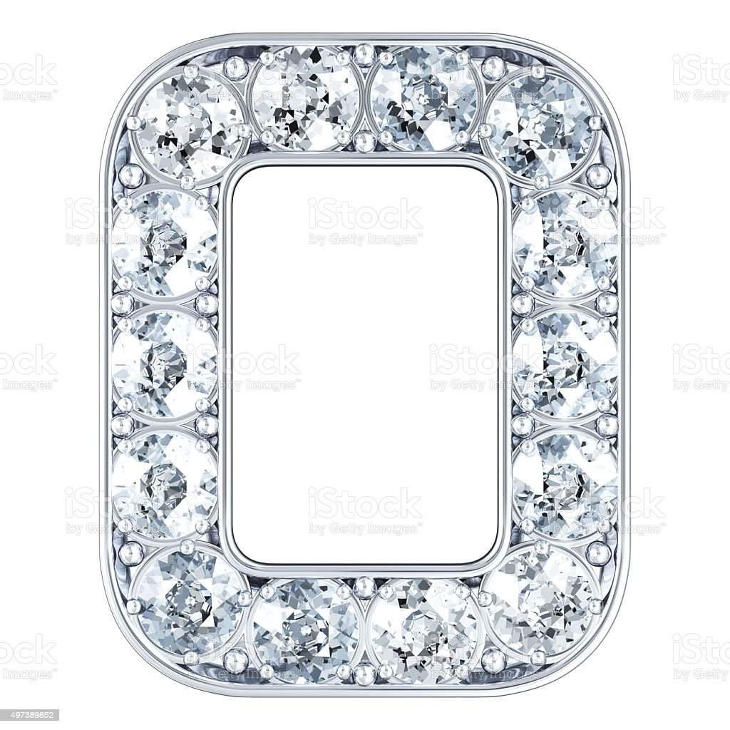 Number 0 With Diamonds stock photo