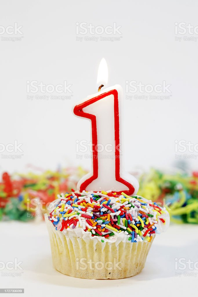 Number 1 Party Cake stock photo