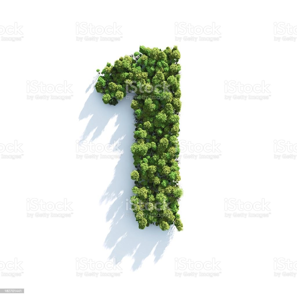 Number 1: Top View royalty-free stock photo