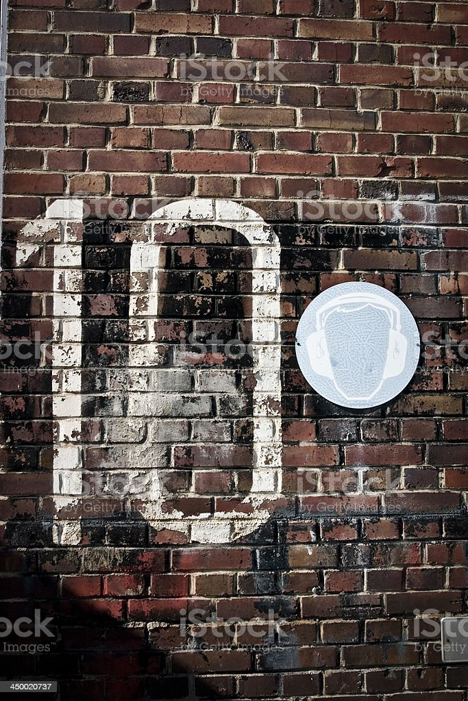 number 10 on a brick wall royalty-free stock photo