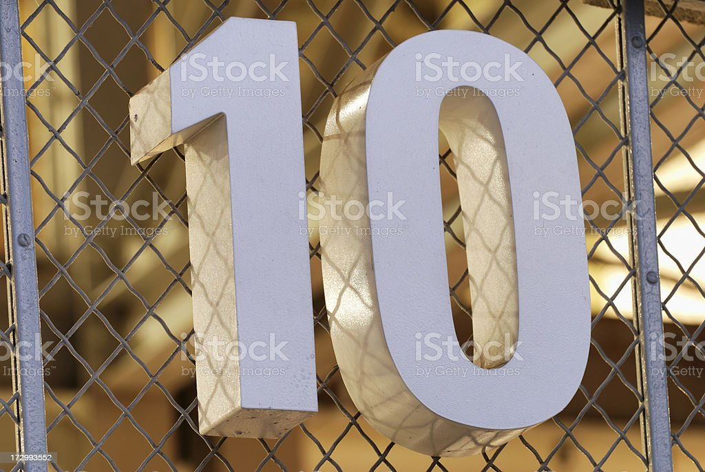 Number 10 royalty-free stock photo