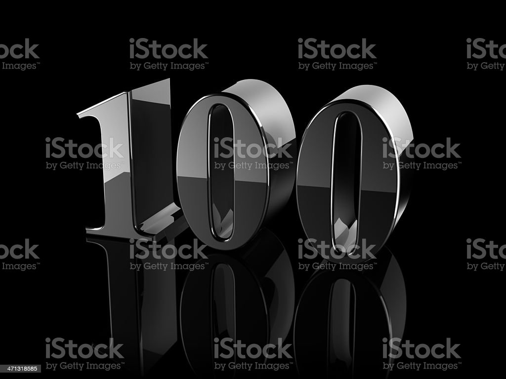 number 100 royalty-free stock photo