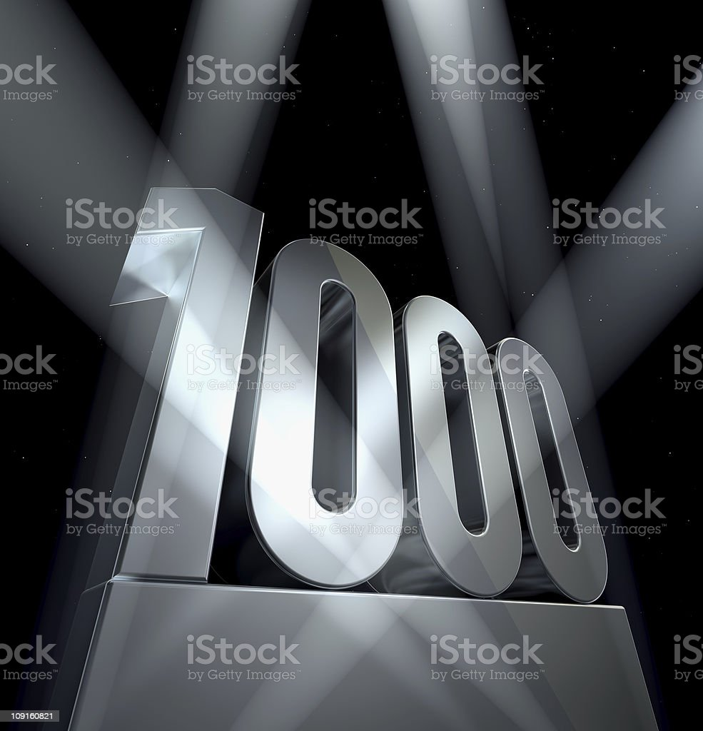 Number 1000 stock photo