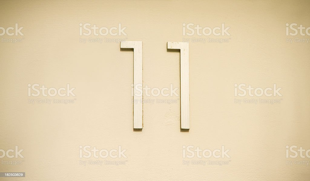 number 11 royalty-free stock photo