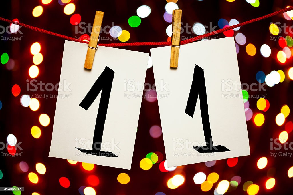 Number 11 stock photo