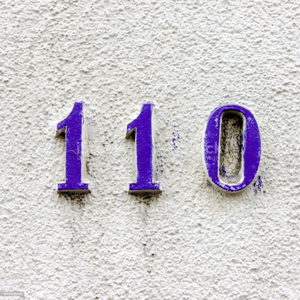 Number 110 stock photo