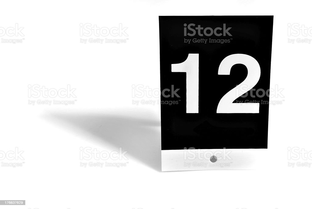 Number 12 stock photo