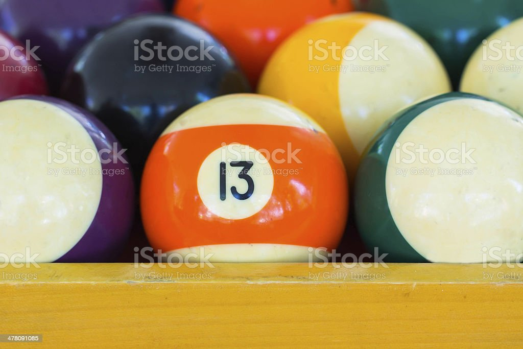 Number 13 ball royalty-free stock photo