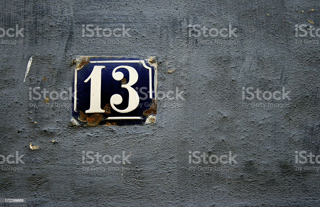 number 13 royalty-free stock photo