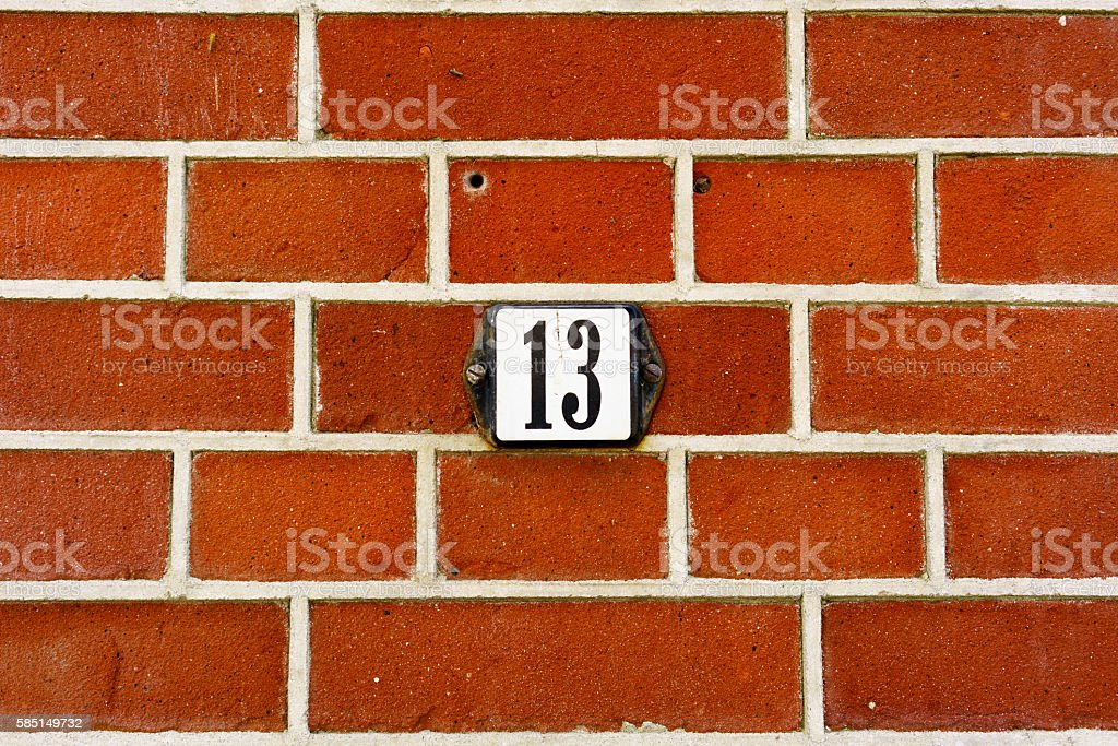 Number 13 stock photo
