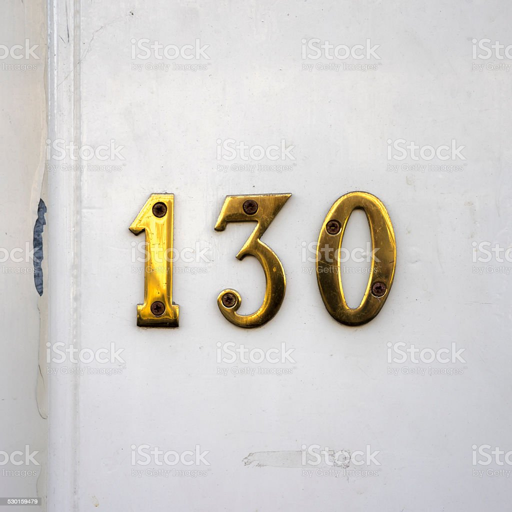 Number 130 stock photo