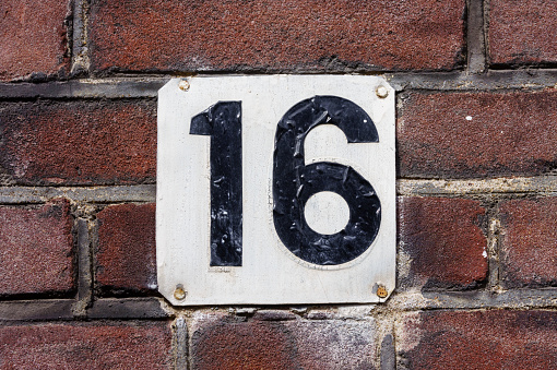 Number 16 pictures images and stock photos istock for Number 16 house