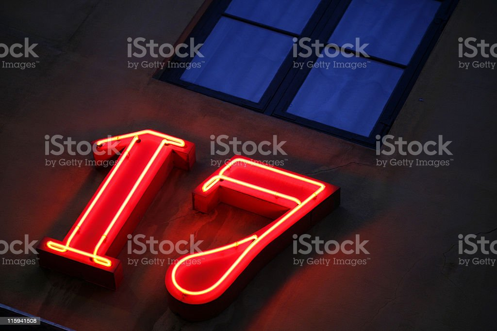 Number 17 royalty-free stock photo