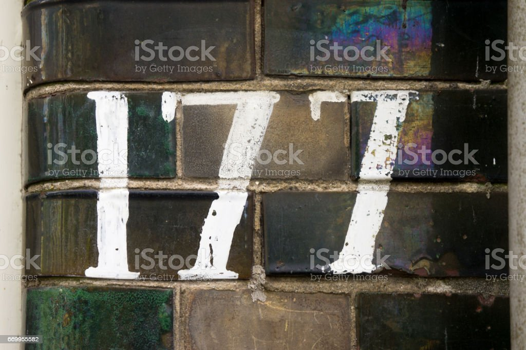 Number 177 stock photo