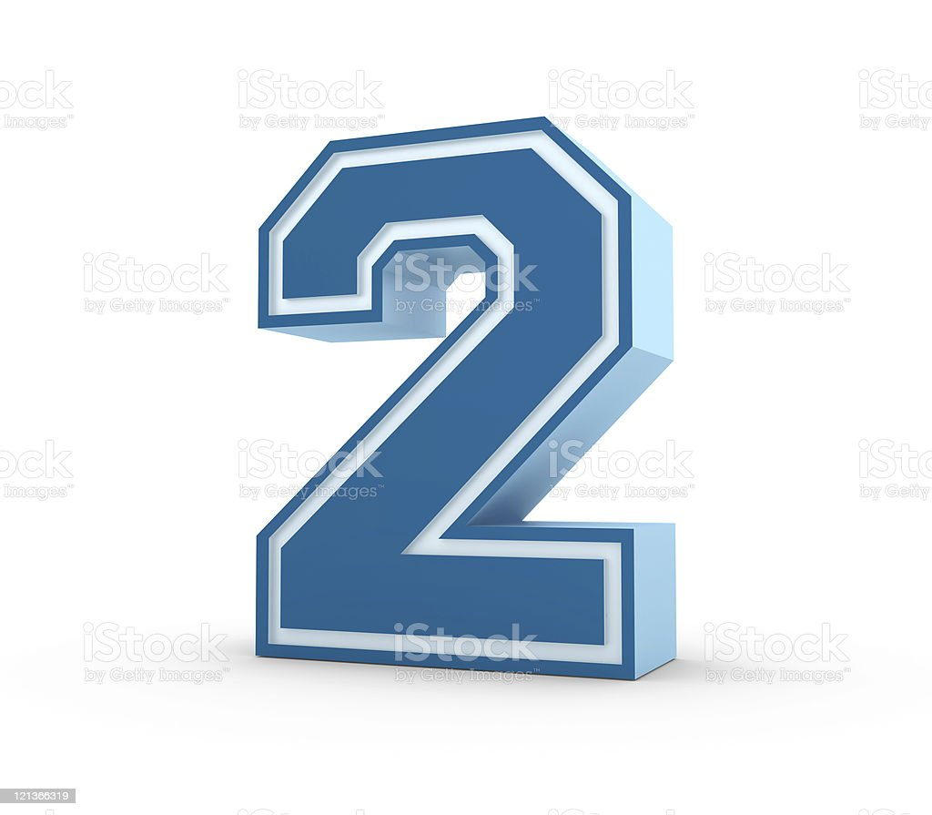 Number 2 in School Style stock photo