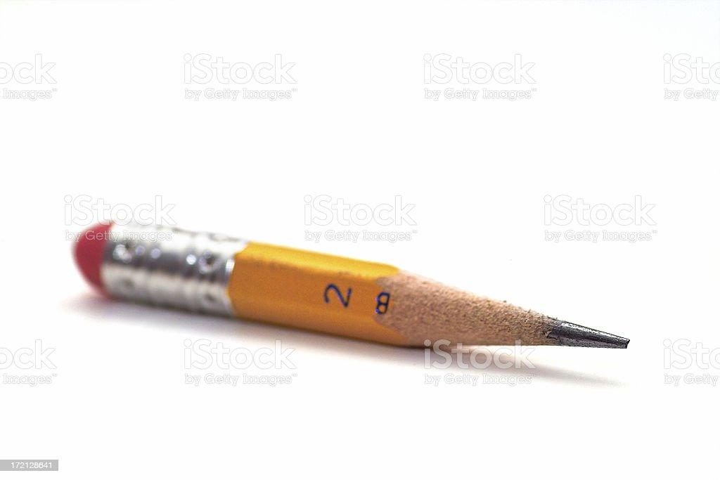 Number 2 Pencil Stub stock photo