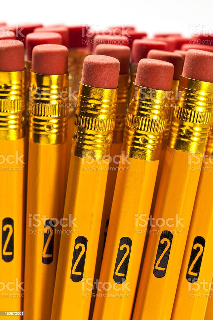 Number 2 Pencils stock photo