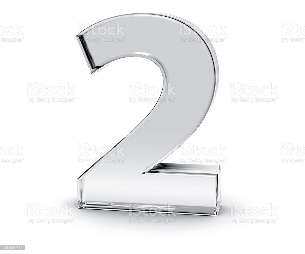 Number 2 stock photo