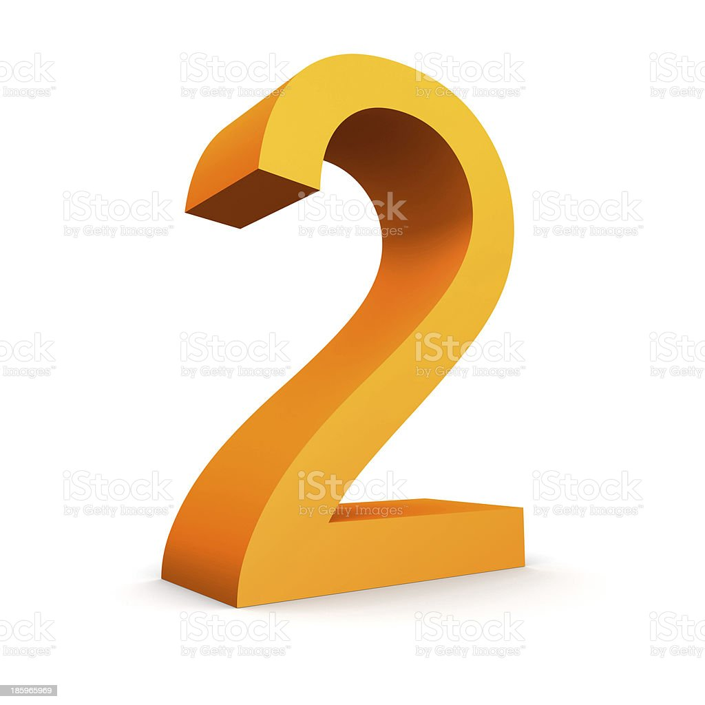 number 2 royalty-free stock photo