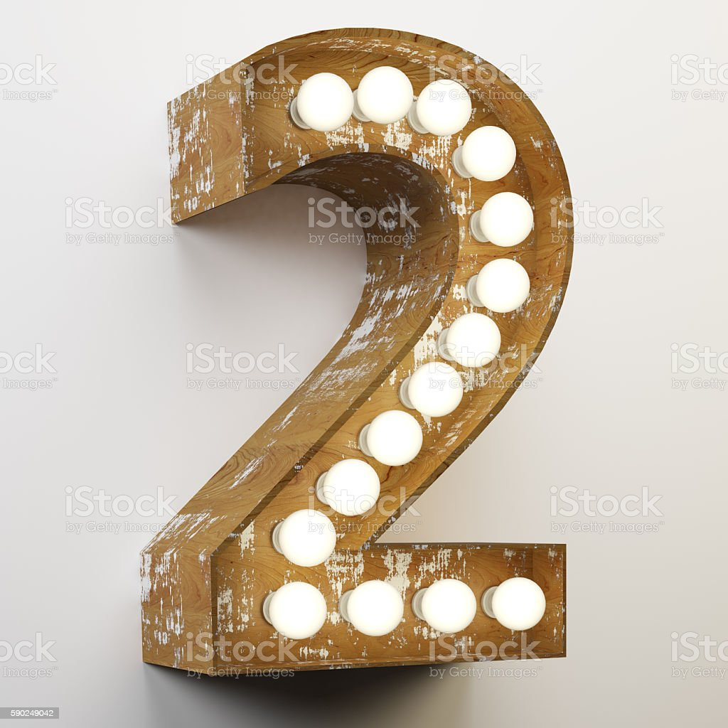 Number 2 Sign stock photo