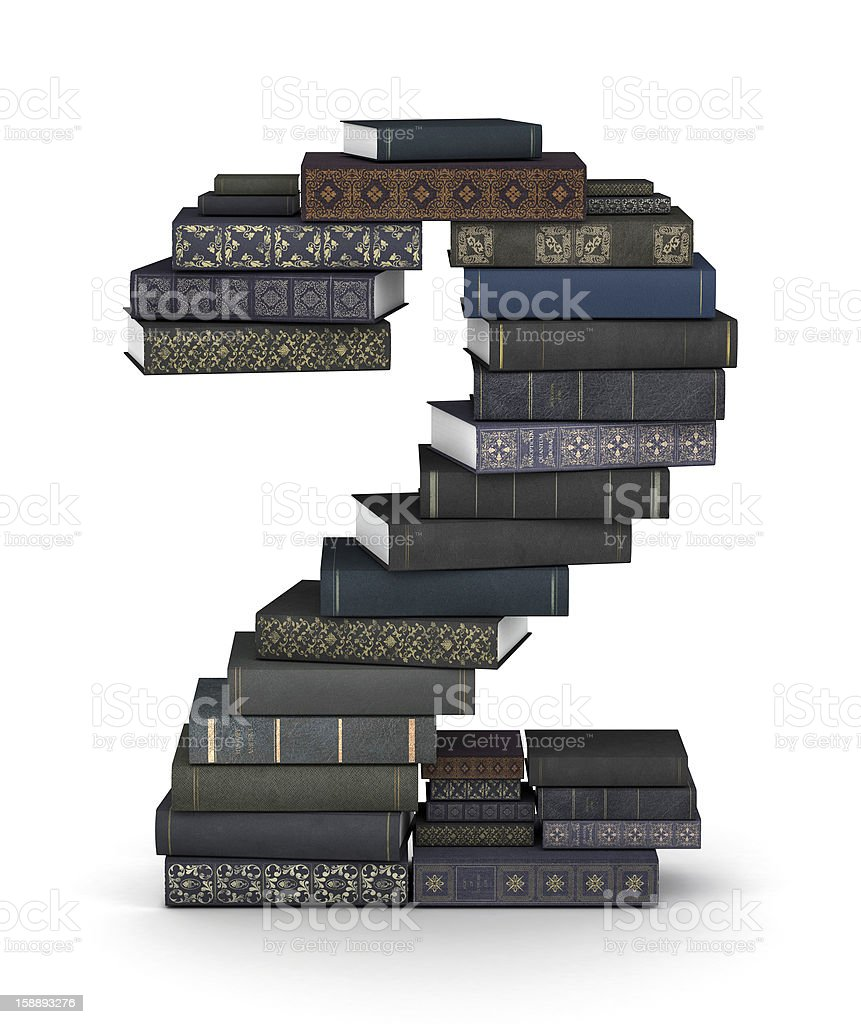 Number 2, stack of books royalty-free stock photo