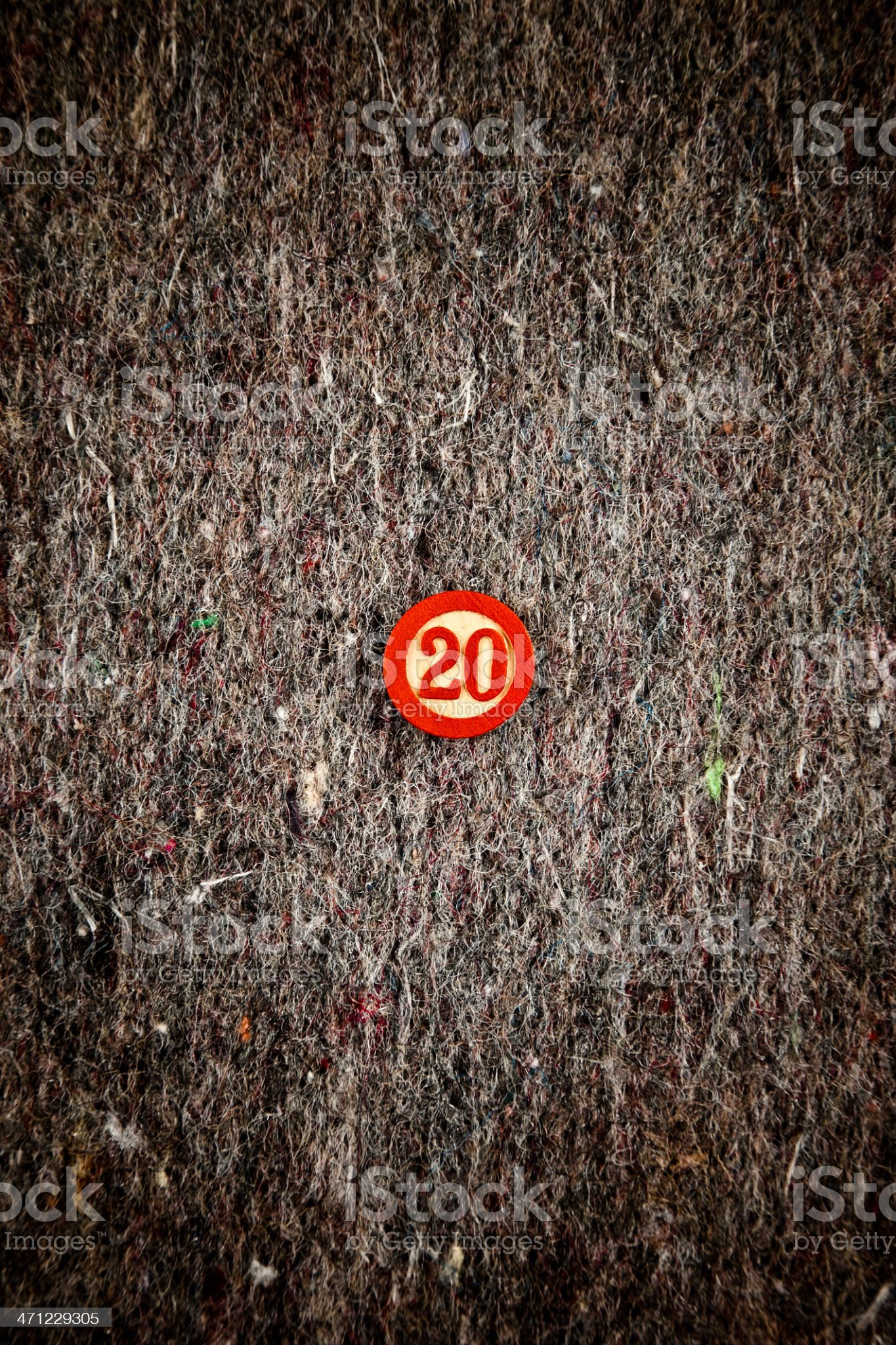 Number 20 royalty-free stock photo