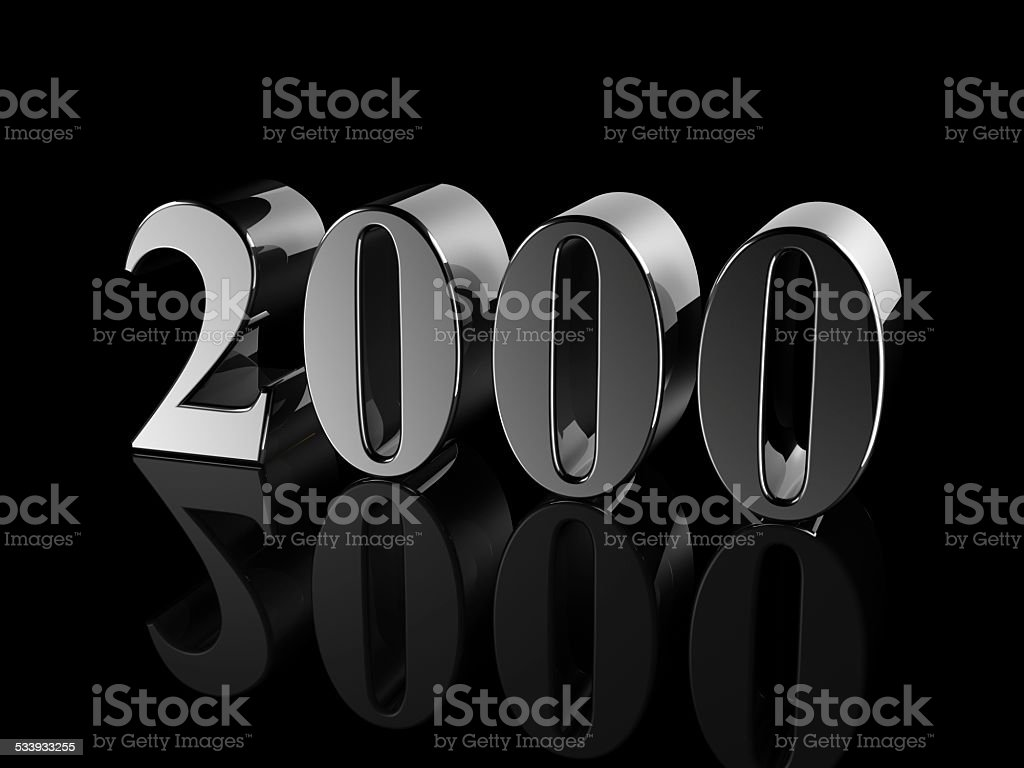 number 2000 stock photo