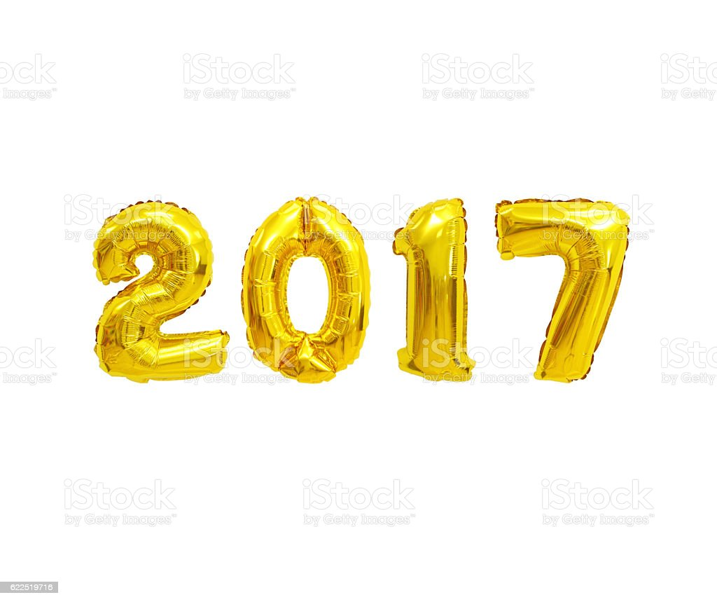 Number 2017 stock photo