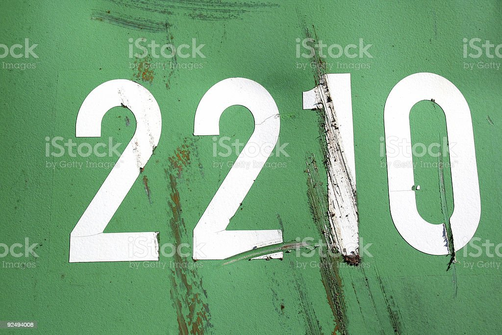 Number 2210 royalty-free stock photo