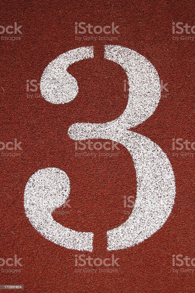 Number '3' royalty-free stock photo