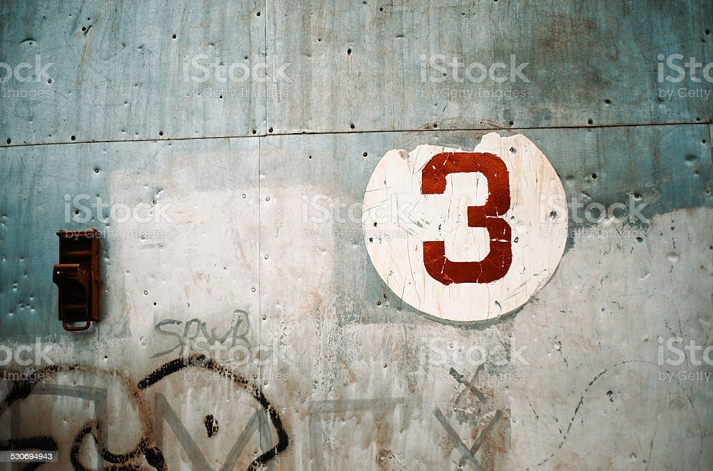 Number 3 stock photo