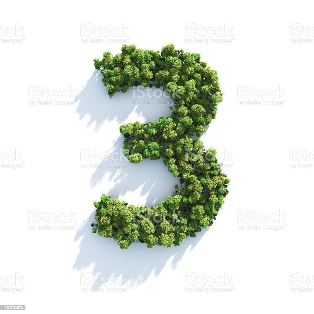 Number 3: Top View royalty-free stock photo