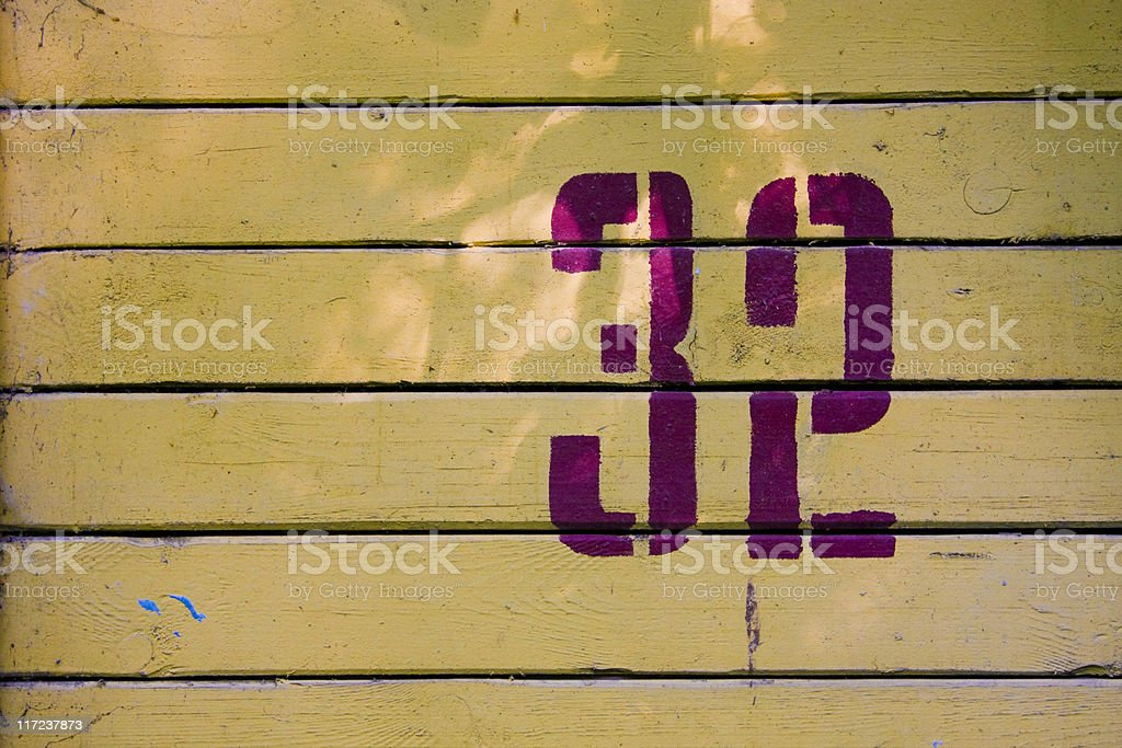 Number 32 on the old background stock photo