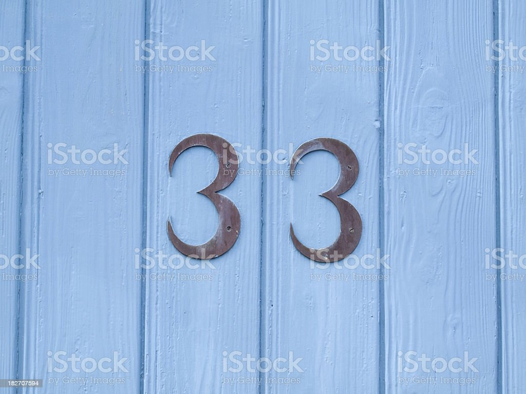 Number 33 stock photo