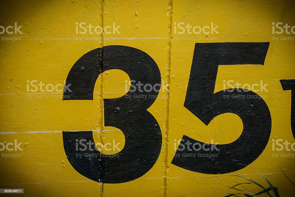 number 35 stock photo