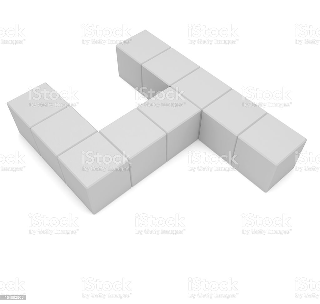 number 4 cubic white royalty-free stock photo