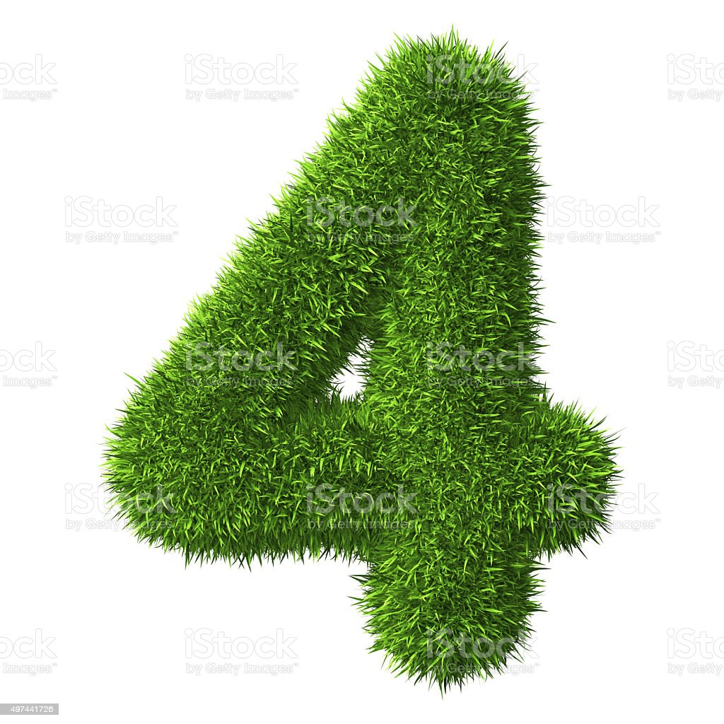 Number 4 of Grass stock photo