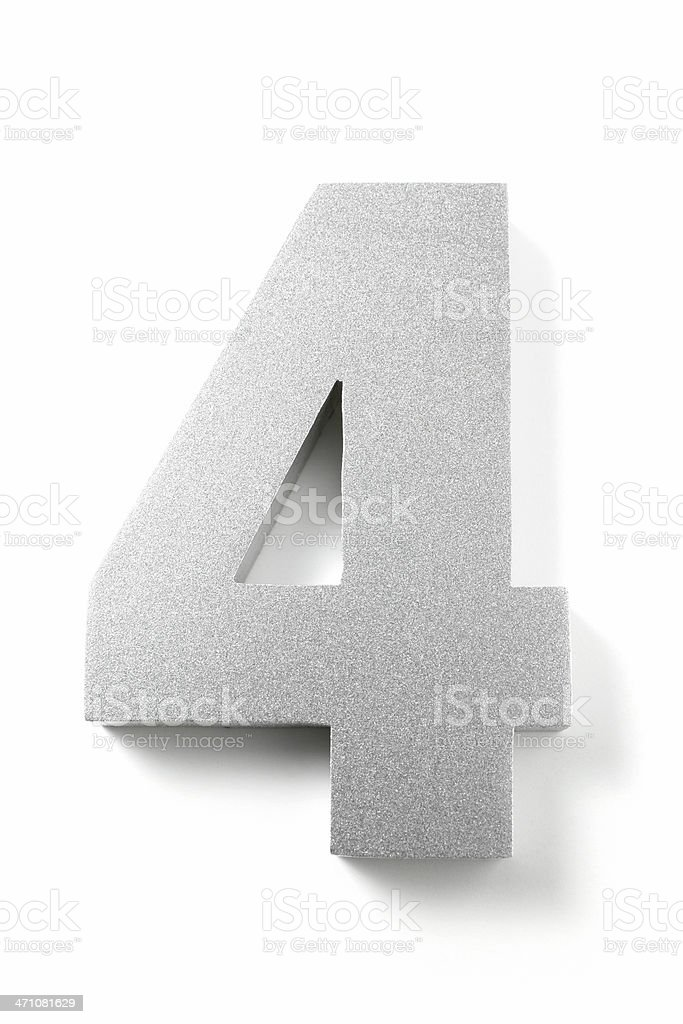 Number 4 royalty-free stock photo